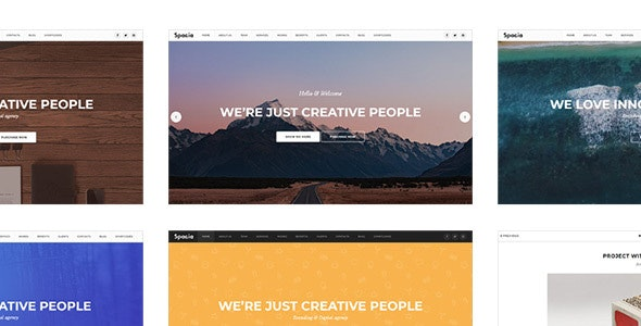 Spacia - One Page Parallax Theme - Creative Site Templates