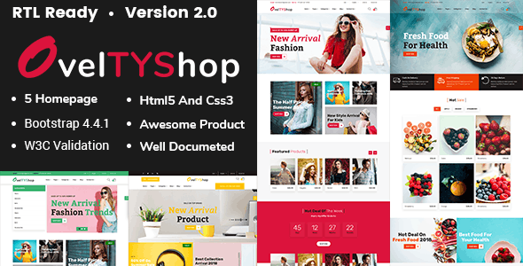 Oveltyshop - ECommerce Responsive HTML5 Template - Retail Site Templates
