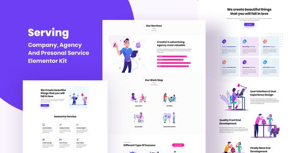 Serving: Elementor Agency & Personal Service Kit