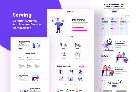 Serving - Service & Business Template Kit - Miscellaneous Elementor