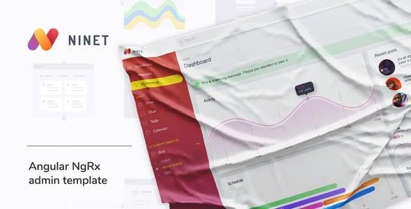 Ninet - Angular 9 NgRx admin template - Admin Templates Site Templates