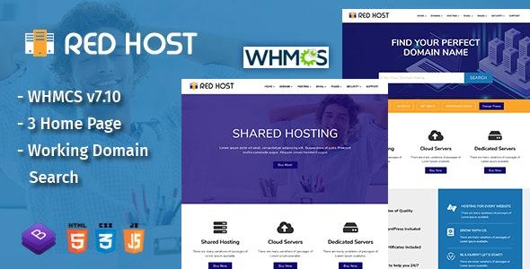 RedHost Web Hosting HTML Template - Hosting Technology