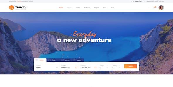 VivaVivu - Travel, Tour, Booking Sketch Template