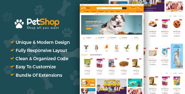 PetShop - Responsive Pet Shop Joomla Template