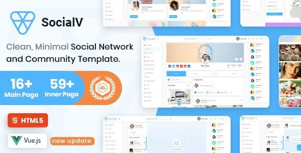 SocialV - Vue Js, HTML Social Network & Community Admin Template - Site Templates