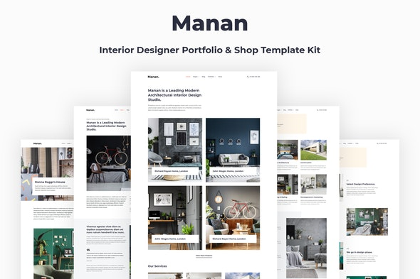 Manan - Interior Designer Elementor Template Kit - Creative & Design Elementor