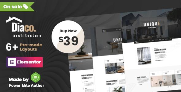 Diaco - Architecture & Interior Design Elementor WordPress Theme - Business Corporate