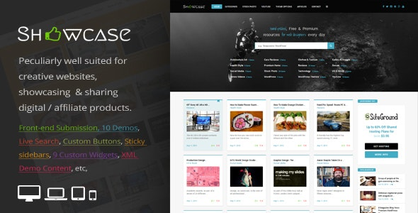 Showcase = Responsive WordPress Grid / Masonry Blog Theme - Personal Blog / Magazine