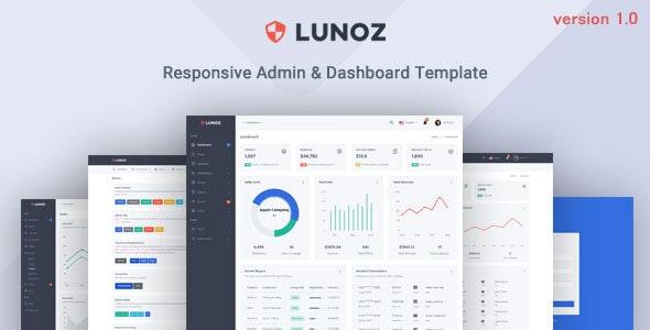 Lunoz - Admin & Dashboard Template - Admin Templates Site Templates