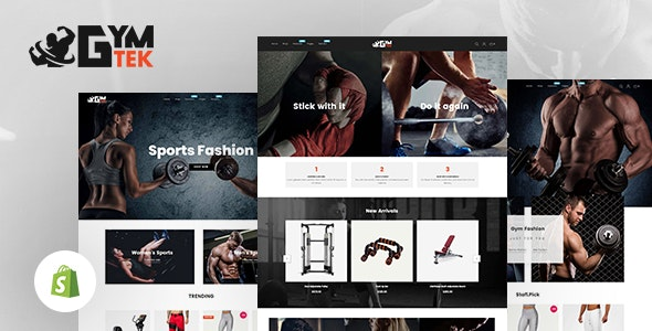 Gymtek - Sports Clothing & Fitness Equipment Shopify Theme - Shopify eCommerce