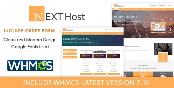 Next Host WHMCS Domain Hosting Template - Hosting Technology