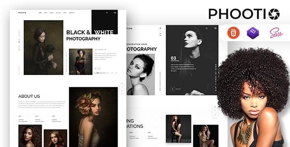 Phootio – Black & White Photography HTML Template - Photography Creative