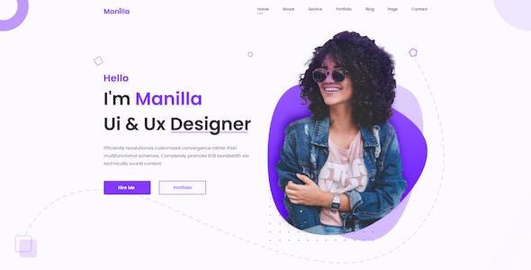 Manilla - Personal Portfolio Template