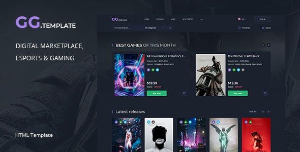 Download GoGame – Digital marketplace HTML Template