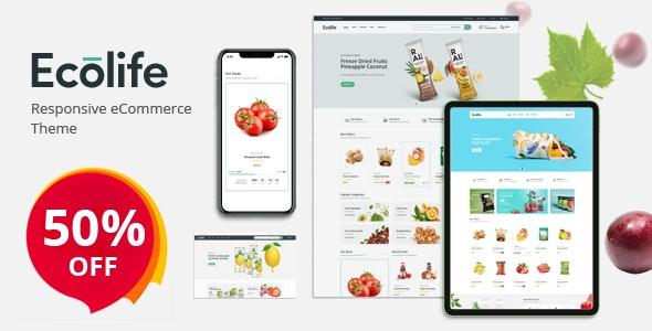 Ecolife - Organic, Food, Cosmetic & Multipurpose Opencart Theme - Health & Beauty OpenCart