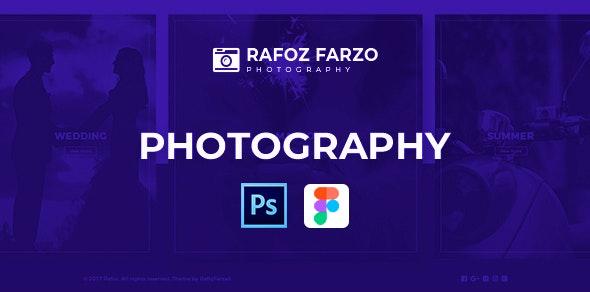 Rafoz - Photography & Portfolio PSD Template - Photography Creative