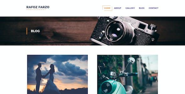 Rafoz - Photography & Portfolio PSD Template