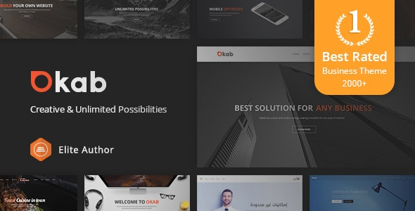 Okab - Responsive Multi-Purpose WordPress Theme + RTL - Business Corporate