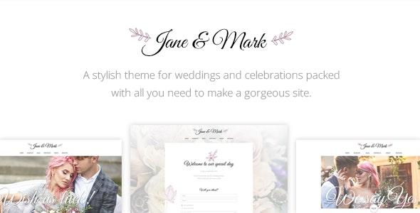 Jane & Mark - Wedding Theme - Wedding WordPress