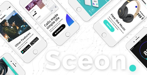 Sceon - App Landing Page & Startup Theme - Technology WordPress