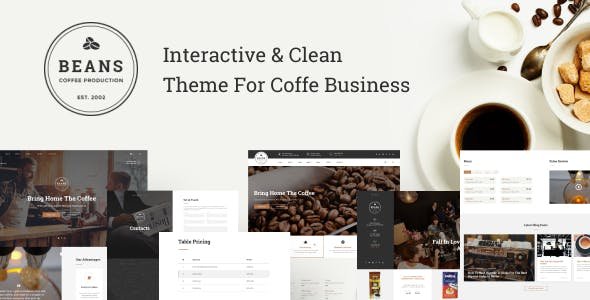 Download Beans - Coffee Shop Website Template