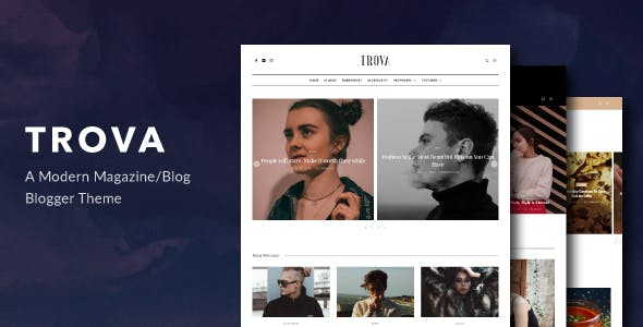 Download Trova - Modern Blog/Magazine Blogger Theme
