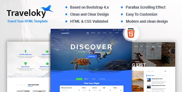 Traveloky - Travel Tour HTML Template