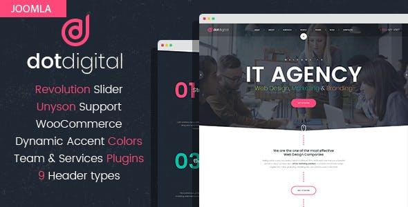 DotCreative – Web Design Agency Joomla Template