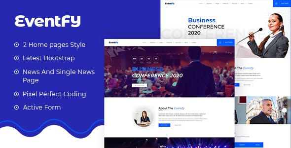 Download Eventfy - Conference and Event HTML Template