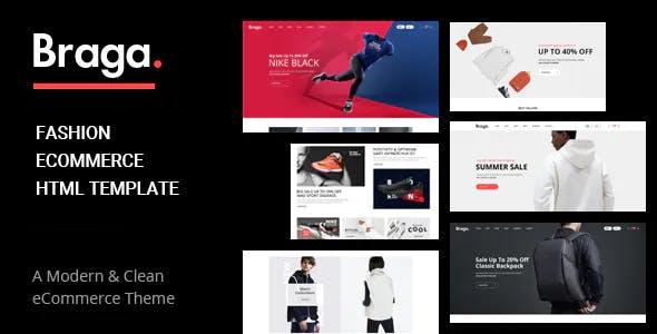 Braga - Fashion Minimal Website Template using Bootstrap 5