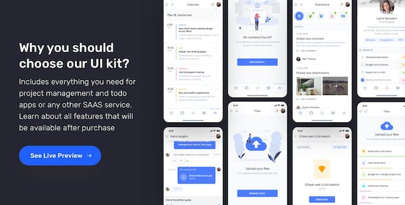 IOTASK Mobile - UI Kit for Todo & Management Apps