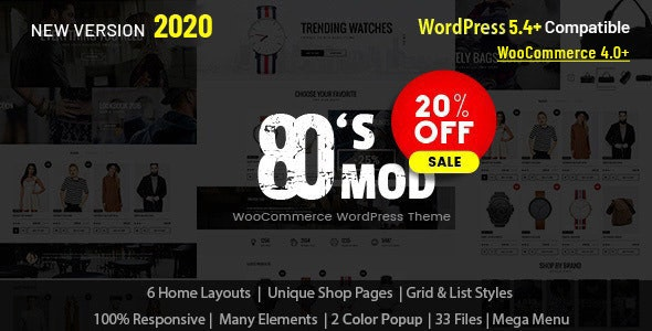 80's Mod - Build Your Store with A Vintage Styled WooCommerce WordPress Theme - WooCommerce eCommerce