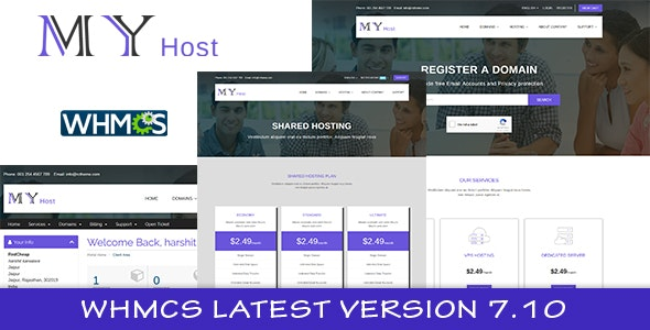 My Host WHMCS Hosting Template - Hosting Technology