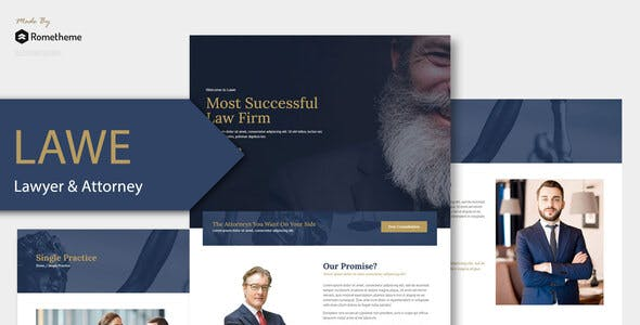 LAWE - Lawyer and Attorney Template Kit
