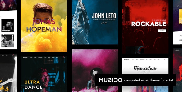 Music WordPress - Music and Bands Entertainment