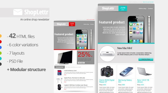 ShopLettr - Online Shop Newsletter - Email Templates Marketing