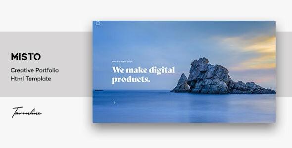 Misto - One Page Portfolio Template - Portfolio Creative