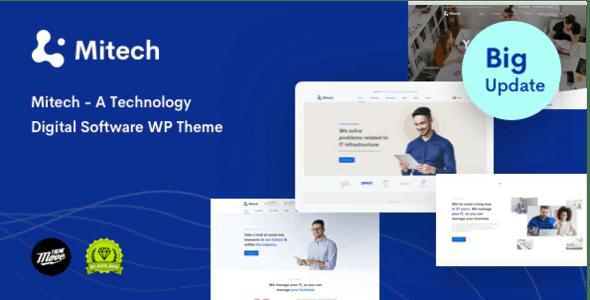 Mitech - Technology IT Solutions & Services WordPress Theme - Technology WordPress
