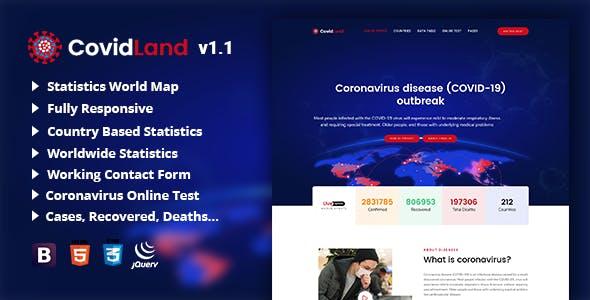 Download CovidLand | COVID-19 Corona Virus Medical Prevention Template