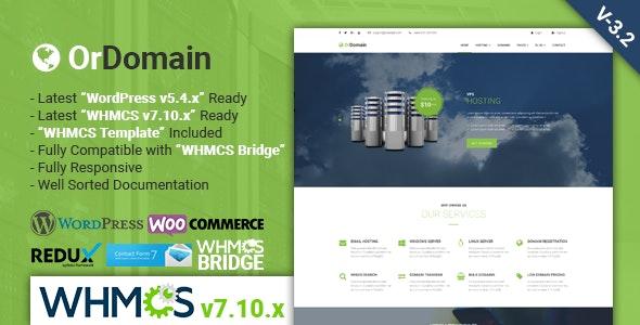 OrDomain   Responsive WHMCS Hosting WordPress Theme - Hosting Technology