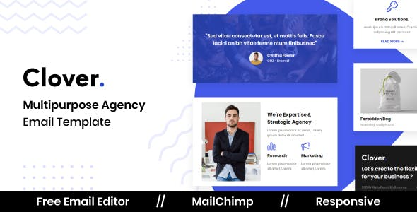Clover - Business Email Template with Free Online Editor