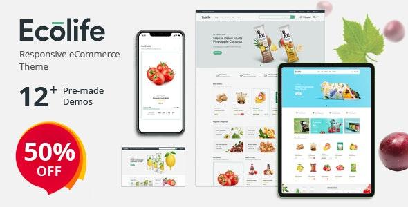 Ecolife - шаблон магазина доставки еды для Prestashop 1.7
