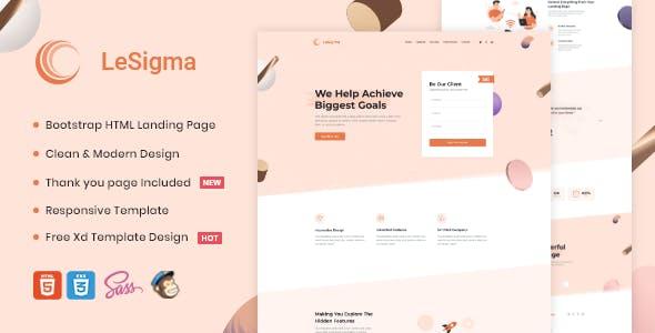 LeSigma - Isometric Startup HTML Landing Page