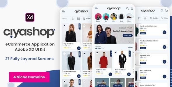 Ciyashop - eCommerce Application Adobe XD UI Kit - Shopping Retail