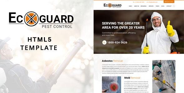 Ecoguard Pest Control HTML5 Template - Site Templates