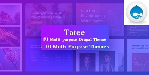 Tatee - Massive Multipurpose Corporate Drupal 8 Theme - Portfolio Creative