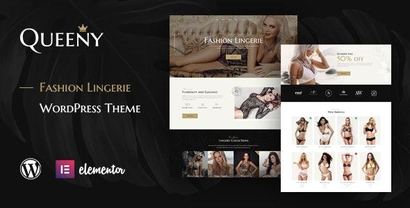 Queeny - Fashion Lingerie WordPress Theme - Fashion Retail