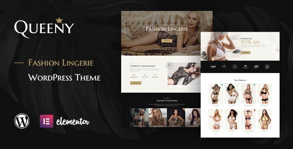 Download Queeny - Fashion Lingerie WordPress Theme