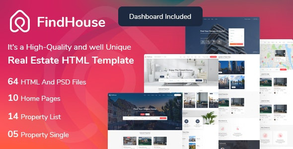 FindHouse - Real Estate HTML Template - Business Corporate