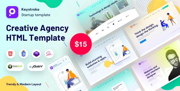 keystroke - Creative Agency Bootstrap Template - Portfolio Creative